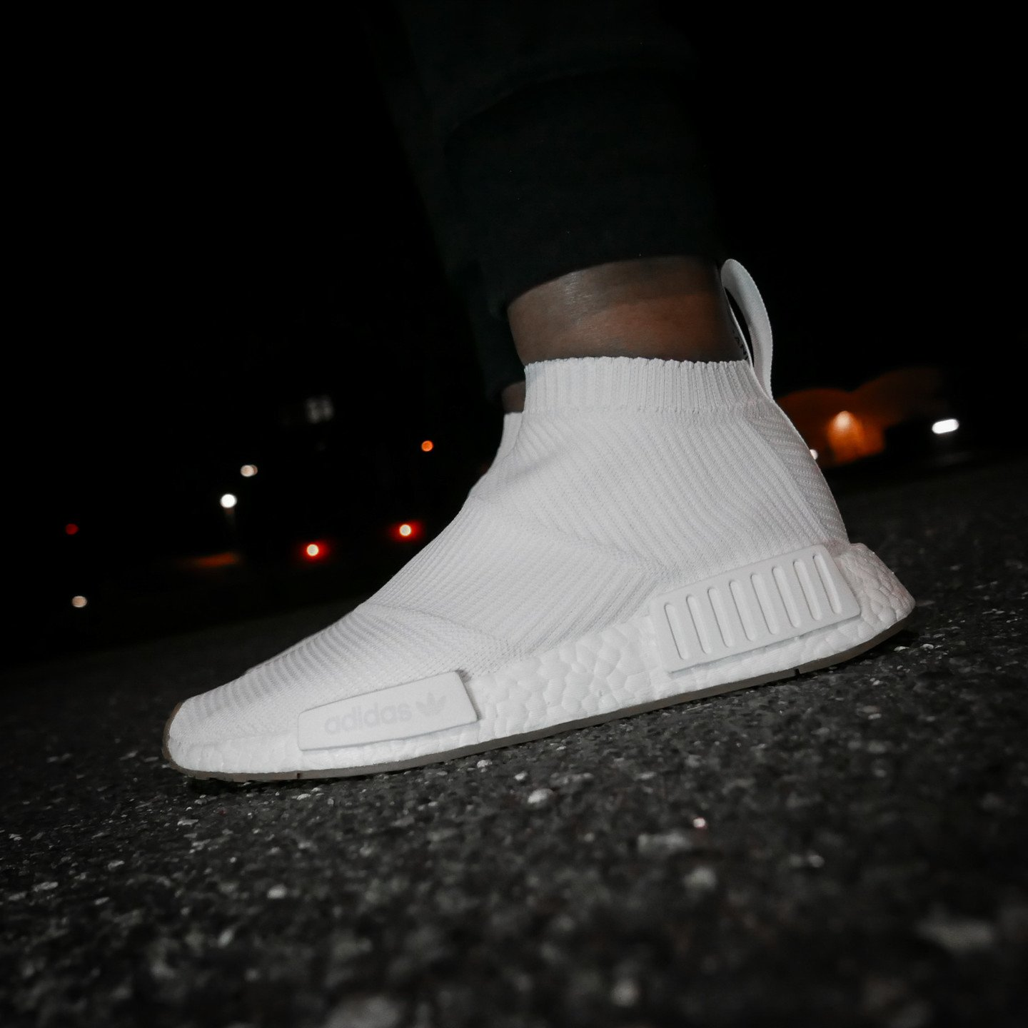 Adidas NMD CS1 City Sock Boost Primeknit Running White / Gum BA7208-46.66