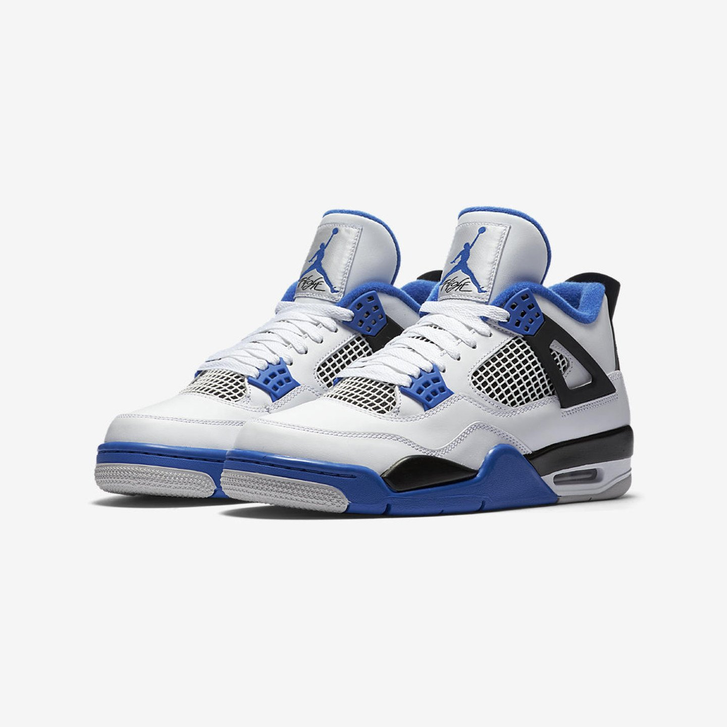 unbestimmt Air Jordan 4 Retro GS 'Motorsport' White / Game Royal / Black 408452-117-39