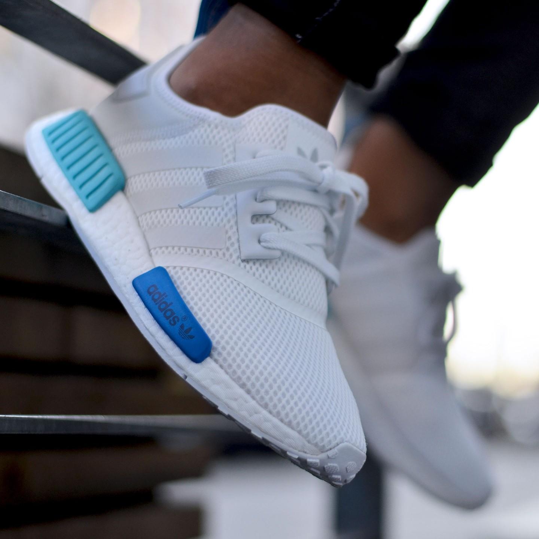 Adidas NMD R1 Runner W Ftwr White   Blue Glow S75235-36.66 0e1c44579