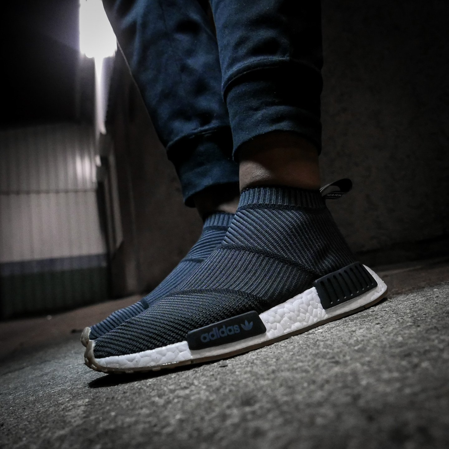 Adidas NMD CS1 City Sock Boost Primeknit Core Black / Gum BA7209-37.33