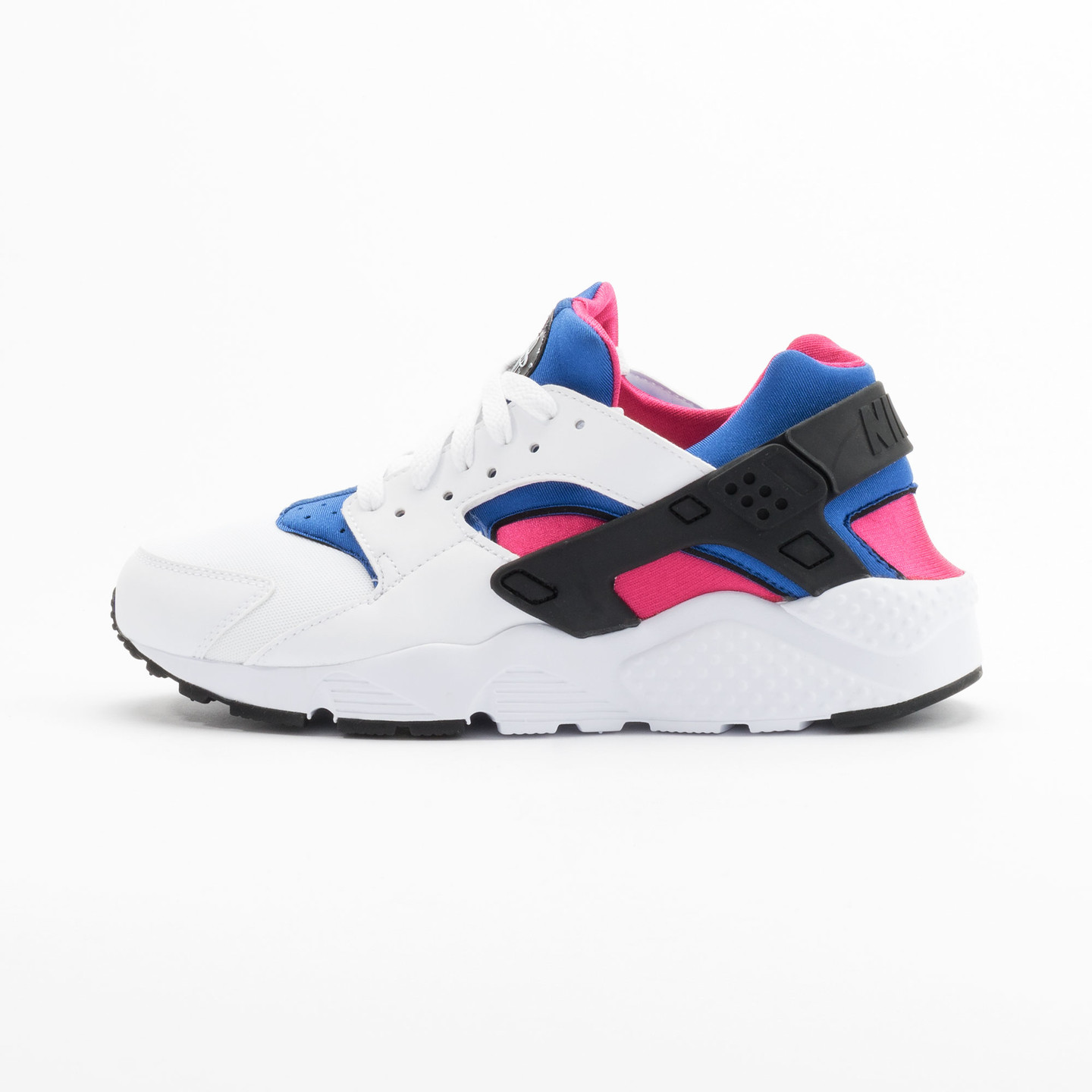 Nike Huarache Run GS White / Black / Game-Royal / Vivid-Pink 654275-106-38.5