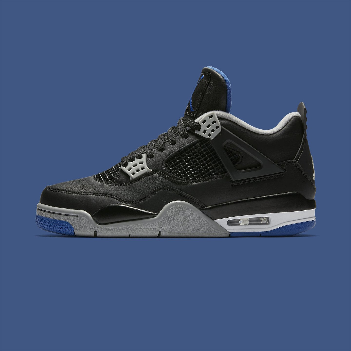 Jordan Air Jordan 4 Retro Black / Game Royal / Matte Silver  308497-006