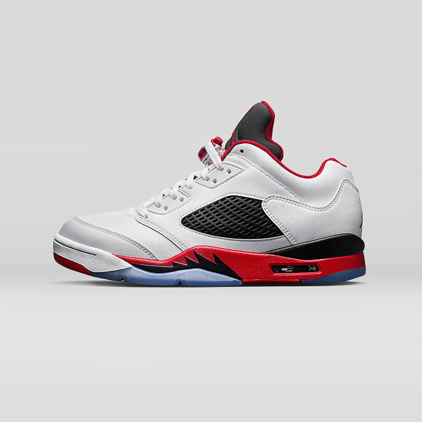 Jordan Air Jordan 5 Low Retro GS 'Fire Red' White / Fire Red / Black 314338-101-38.5