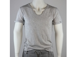 V-neck basic Shortsleeve - hell gestreift