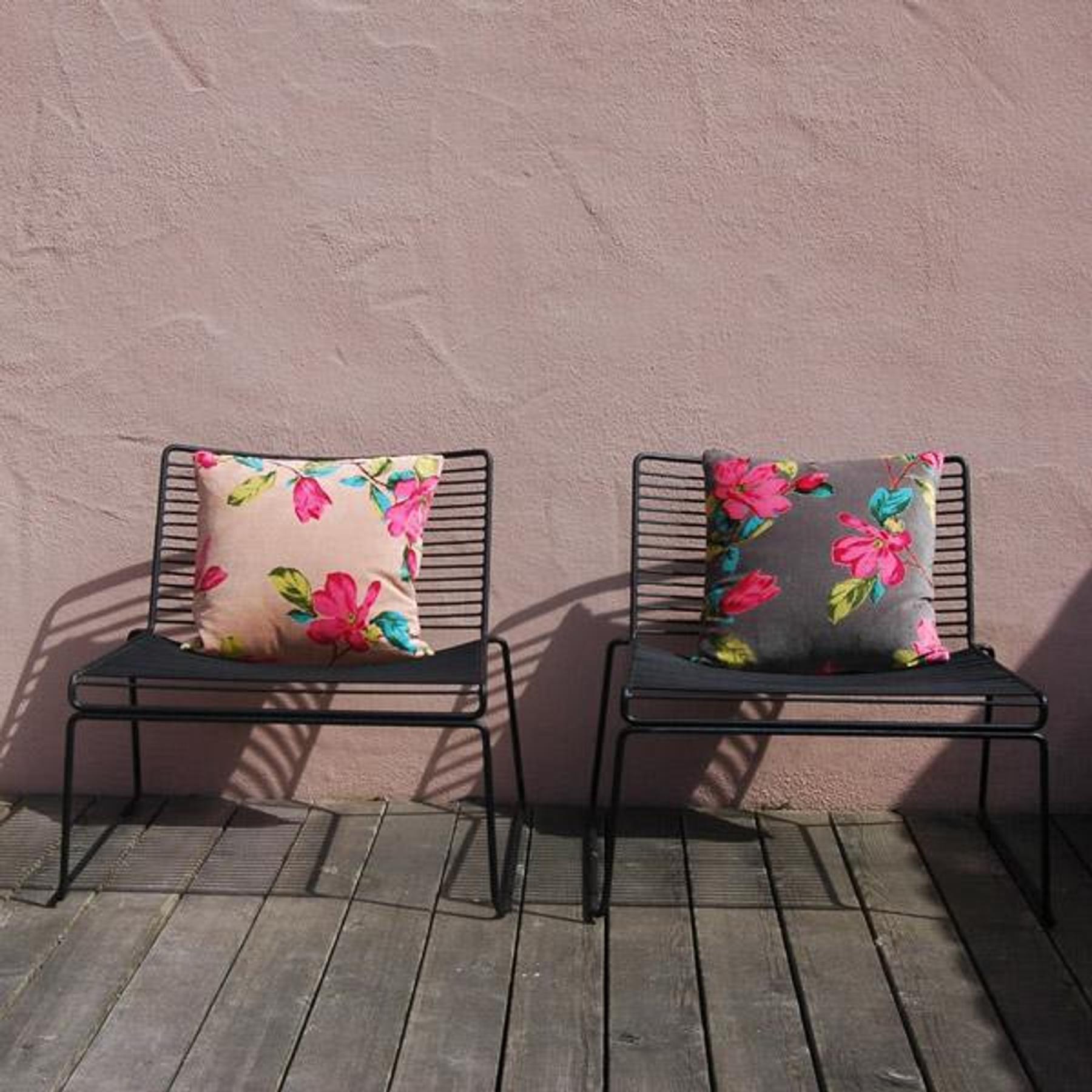 imbarro kissen magnolia grau sofakissen aus baumwolle in 45x45 cm tujuh sch ne dinge. Black Bedroom Furniture Sets. Home Design Ideas