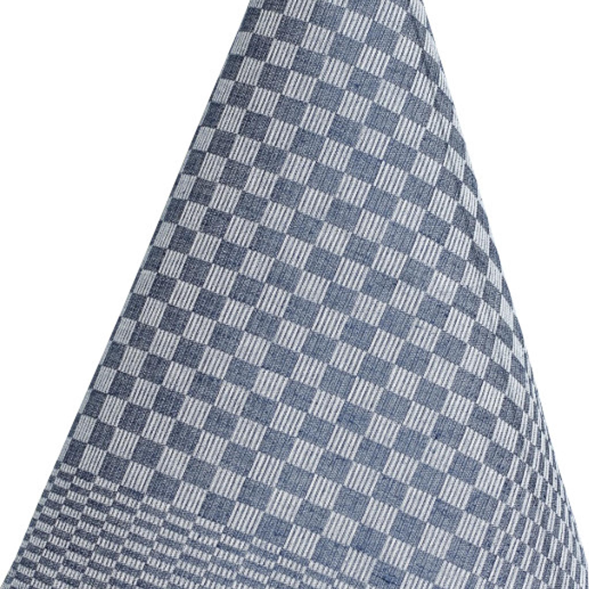 geschirrt cher aus leinen schachbrettmuster in dunkelblau. Black Bedroom Furniture Sets. Home Design Ideas
