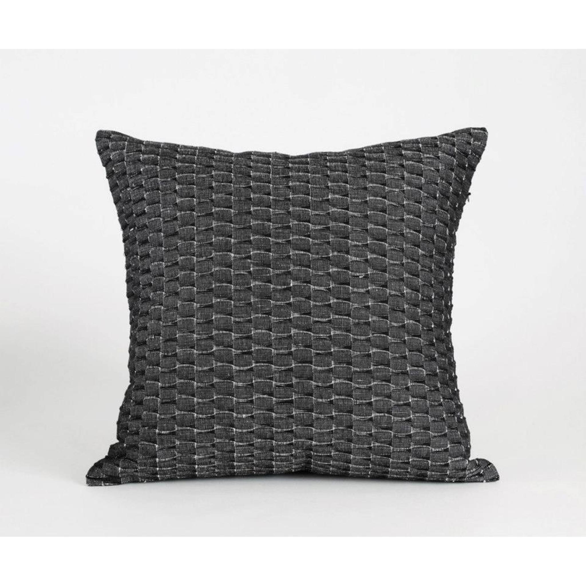 kissenh lle 50x50 cm dunkelgrau leinen baumwolle. Black Bedroom Furniture Sets. Home Design Ideas