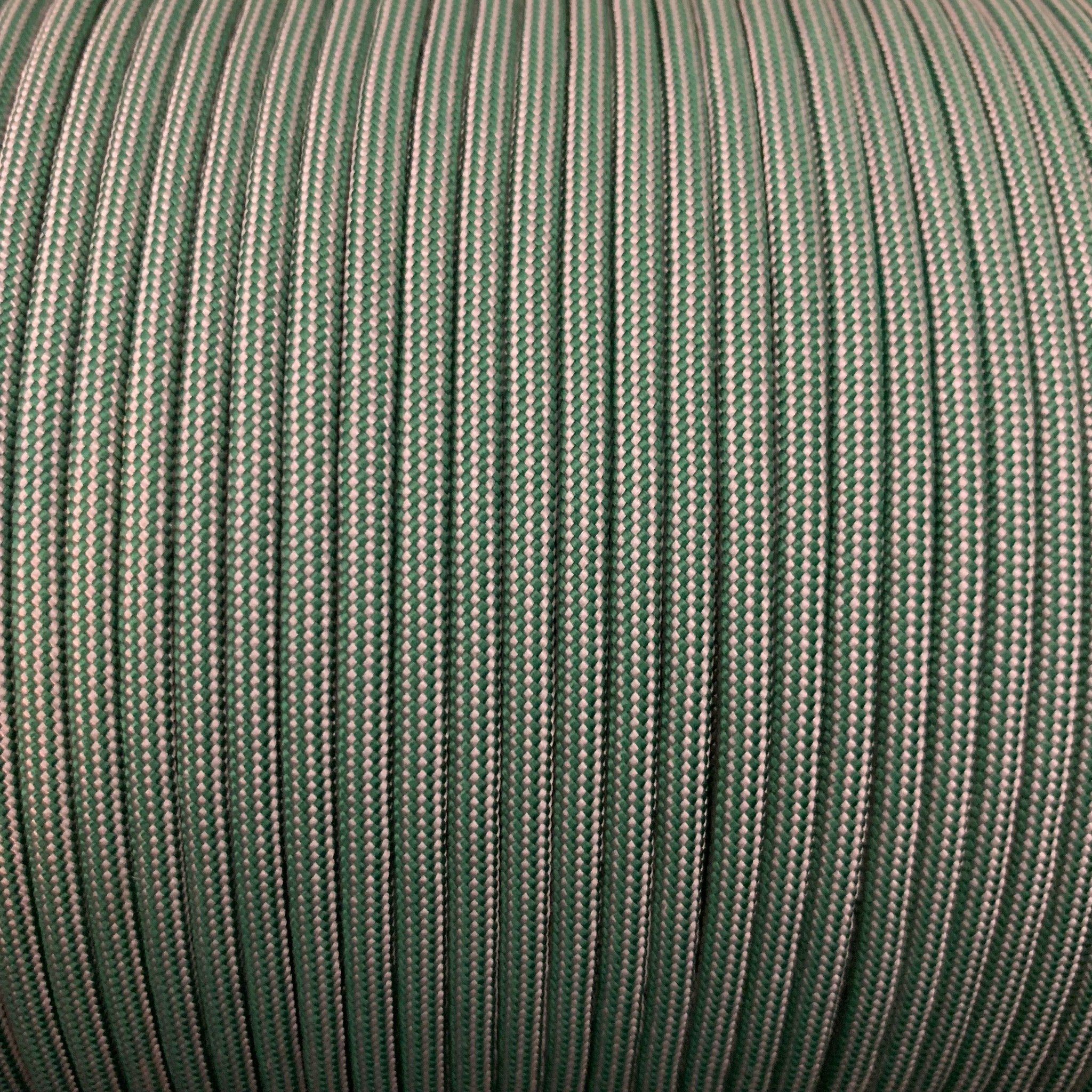 Kelly Green - Silver Grey Stripes // Paracord 550 (Typ3)