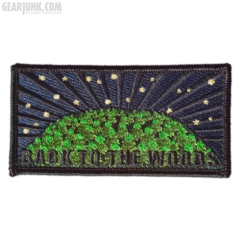 "Bushcraft Patch ""Back to the Woods"" Nachtversion"