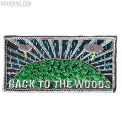"Bushcraft Patch ""Back to the Woods"" Donnerwetter"