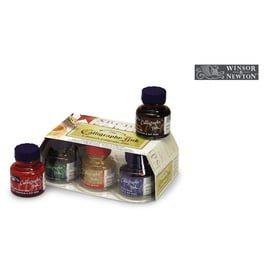 Winsor & Newton Calligraphy Ink Set | 6 Flakons à 30 ml im Glasflakon | Artikelnummer: CO192