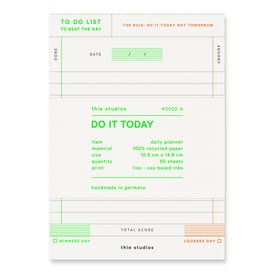 Do It Today! To-Do Block / Daily Planner | by Thie Studios | Artikelnummer: thie_todoblock