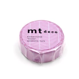 mt Masking Tape Diagonal Purple | Pinke Streifen auf Violett / Pink lines on purple | Artikelnummer: MT01D447Z