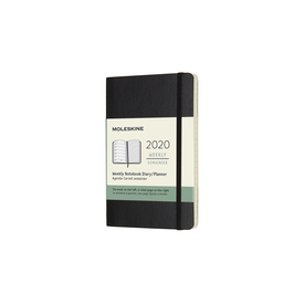 2020 Moleskine Weekly Notebook Pocket | Softcover, schwarz / black | Artikelnummer: 628912 schwarz_soft