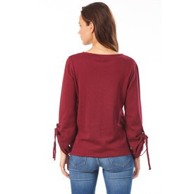 Strick-Sweater 'Nany' bordeaux |  | Artikelnummer: 268521_355 S
