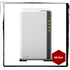 Synology DS216j incl. 10TB (2 x 5TB) WD RED NAS RAID Server Bundle | ab Lager lieferbar! | Artikelnummer: DS216j 2-Bay 10TB WD RED
