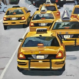 Taxis going | 36 x 36 cm | Artikelnummer: BROAN31