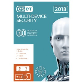 ESET Multi-Device Security 2018 DE (5U-1Y) ESD NEU | ESD SOFTWARE - Lieferung per Email | Artikelnummer: 5001