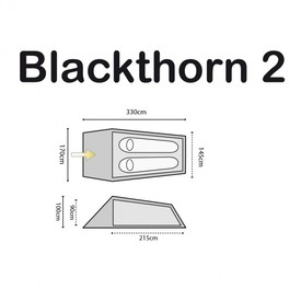 Blackthorn 2, Huntergreen | 2 Personenzelt | Artikelnummer: TEN132-HG