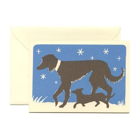 Hunde in der Nacht Grußkarte / Dogs at Night Greeting Card | Cambridge Imprint | Artikelnummer: cambridge_hunde