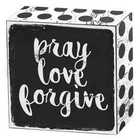 Pray love forgive | Art Box | Artikelnummer: 50-18-017