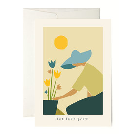 Gärtner Liebeskarte / Let Love Grow Greeting Card | by Vicky Di | Artikelnummer: vickydi_grow