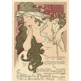 Salon des Cent. XXme. Exposition du Salon des Cent. Hall de la Plume. Paris | Advertising Poster 1896 | Artikelnummer: POD-PI-4456