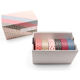 mt Wamon 5 Masking Tape Geschenkbox  / mt Wamon 5 Masking Tape Gift Box  | 6 Rollen gemustertes Washi Tape / 6 rolls of patterned washi tape | Artikelnummer: MT06P005Z