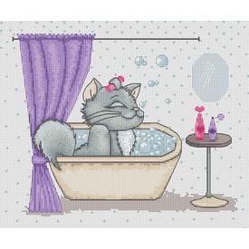 Having a Nice Bath - handwerkpakket met telpatroon Luca-S |  | Artikelnummer: luca-b1032