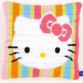 Hello Kitty - Vervaco platsteek kussen | Handwerkpakket voor kinderen om zelf te maken | Artikelnummer: vvc-153797