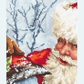 Santa Clause and Snowman - borduurpakket met telpatroon Letistitch |  | Artikelnummer: leti-919