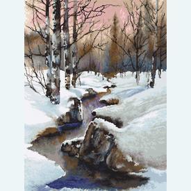 Winter - borduurpakket met telpatroon Luca-S |  | Artikelnummer: luca-b609