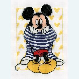 Mickey Dressing - Disney borduurpakket met telpatroon Vervaco |  | Artikelnummer: vvc-167520