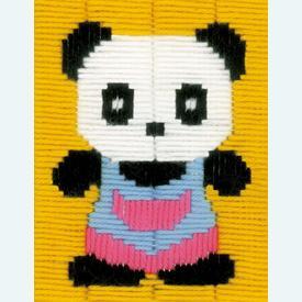 Panda - Vervaco borduurpakket in platsteek, voor kinderen |  | Artikelnummer: vvc-154220