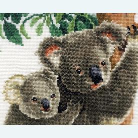 Koala with Baby - borduurpakket met telpatroon Vervaco |  | Artikelnummer: vvc-158414