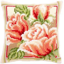 Pink Roses 2 - Vervaco Kruissteekkussen |  | Artikelnummer: vvc-147943