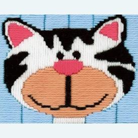 Kitten - Vervaco borduurpakket in platsteek, voor kinderen |  | Artikelnummer: vvc-1216