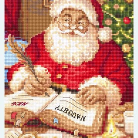 The List of Naughty and Nice - borduurpakket met telpatroon Letistitch |  | Artikelnummer: leti-951
