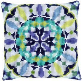 Blue Rosette - Vervaco Kruissteekkussen |  | Artikelnummer: vvc-149064