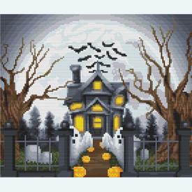 Halloween Manor - Borduurpakket met telpatroon Orcraphics      Artikelnummer: orc-2019-02-53