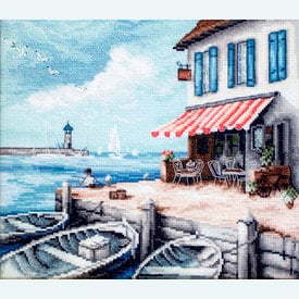 Sea Port - borduurpakket met telpatroon Letistitch |  | Artikelnummer: leti-908
