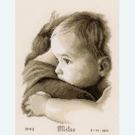 Baby Hug - borduurpakket met telpatroon Vervaco |  | Artikelnummer: vvc-158510
