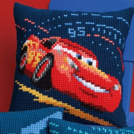 Lightning McQueen with Screeching Tires - Vervaco Kruissteekkussen - Cars - Disney |  | Artikelnummer: vvc-166441