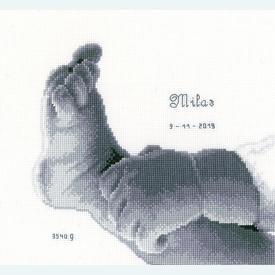 Little Baby Foot - kruissteekpakket met telpatroon Vervaco |  | Artikelnummer: vvc-158042
