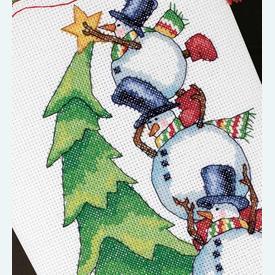 Trimming the Tree Stocking - borduurpakket met telpatroon Dimensions |  | Artikelnummer: dim-08820