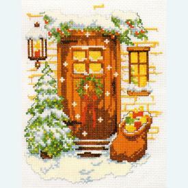 Awaiting Christmas - borduurpakket met telpatroon Vervaco |  | Artikelnummer: vvc-70694