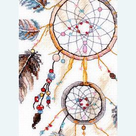 Never Stop Dreaming - borduurpakket met telpatroon Letistitch | Dromenvanger | Artikelnummer: leti-984