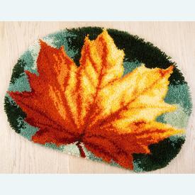 Autumn Leaf - knooptapijt Vervaco | Smyrna tapijt met herfstblad | Artikelnummer: vvc-170508