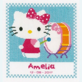 Hello Kitty Makes Music - borduurpakket met telpatroon Vervaco |  | Artikelnummer: vvc-156474
