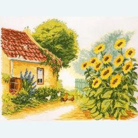 Sunflowers by Reint Withaar - borduurpakket met telpatroon Vervaco - kaaslinnen |  | Artikelnummer: vvc-25790